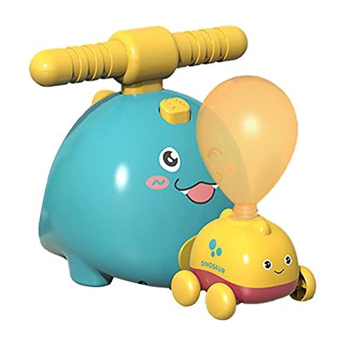 Juego de juguetes de coche lanzador de globos, regalo de juguete para niños, bomba de globo inflable creativa coche de carreras, experimento científico inteligencia educación preescolar