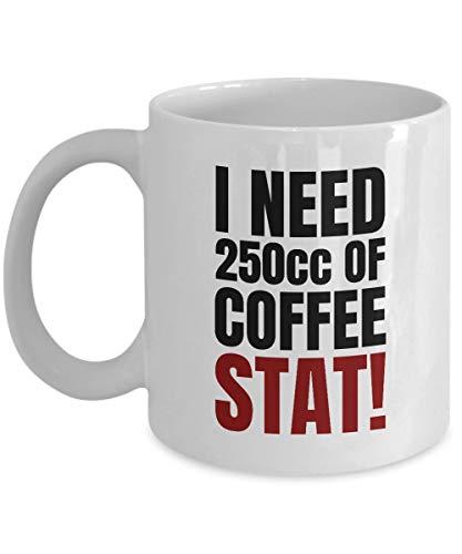 Funny Paramedic Mug - Emergency Medical Technician - EMS - Trauma Center - Coffee Stat! - Funny Medical Mug