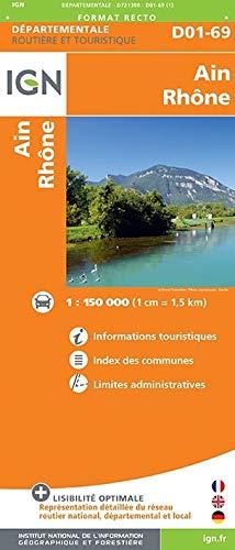 Ain, Rhône : 1/150 000