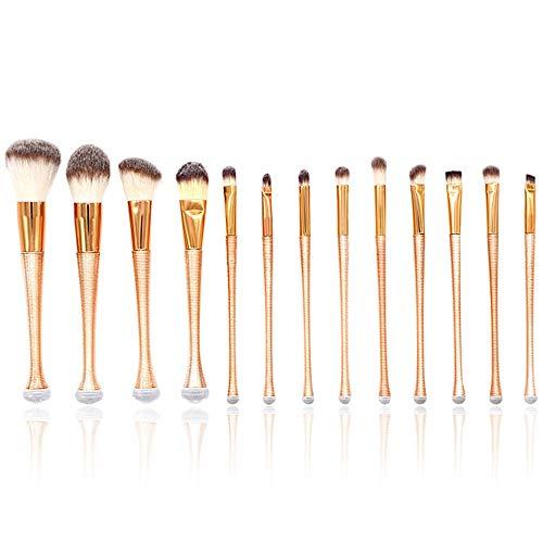 L.L.QYL Brosses 13pcs Pinceau de Maquillage Diamant Brillant Or Licorne avec boîte de Fondation Professionnelle Poudre crème Blush Blush Kits de pinceaux Maquillage pour Les Femmes