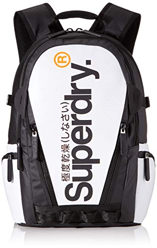 Superdry Herren White Tarp Backpack Rucksack Weiß (White)
