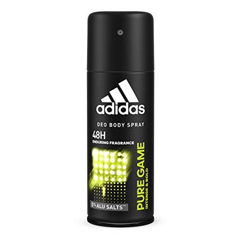 adidas Pure Game Deos Body Spray voor heren, 6 stuks (6 x 150 ml)