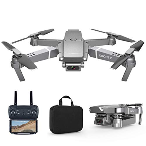 LCSA Drone con cámara 4K, cuadricóptero UAV con cámara térmica de 3 ejes, Gimbal 34 min, tiempo de vuelo, función de sensor de gravedad, One Key Take Off/Landen, Silver 4K