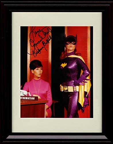 Framed Yvonne Craig Autograph Replica Print - TV Batman Batgirl