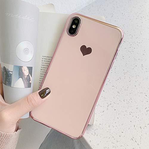 LIMITED Amor Corazón Caso para iPhone 11 11Pro MAX Teléfono Caso para iPhone XR XS MAX 6 6s Funda De Silicona Suave 7 8 Plus (Rosa,For iPhone 6Plus 6SP)