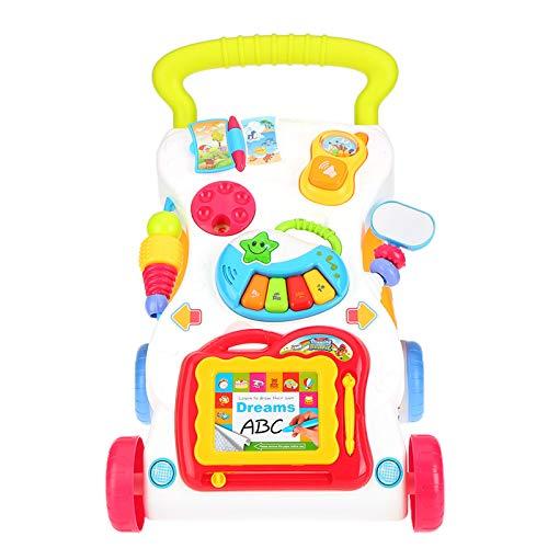 CHUN LING Andador de pie, Juguete Educativo para bebés, Centro de Actividades, Mesa de Entretenimiento, Tablero de Dibujo, Tornillo Ajustable