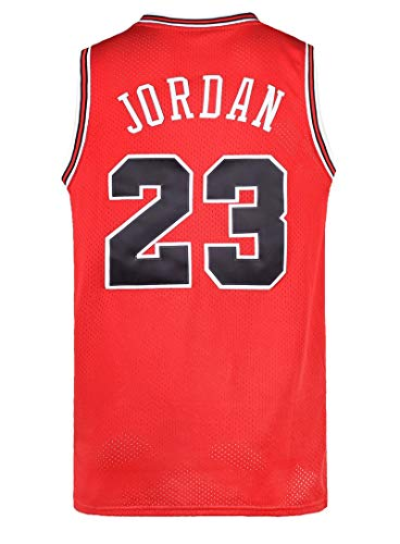 Mens 23# Space Retro Jersey Basketball Jersey White/Black/Red S-3XL (Red, S)