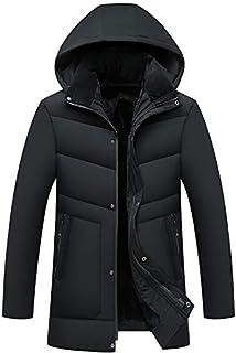 綿のコートお父さん冬服中年男性プラスベルベット厚ダウン綿パッド入りの長い綿のジャケット中年のジャケット...