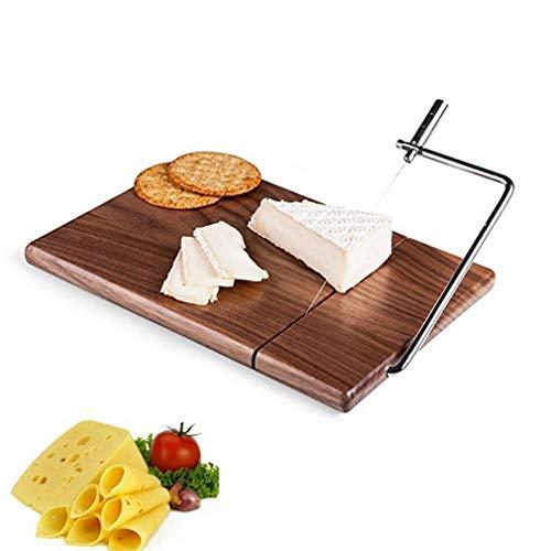 ZXX. Käseschneider, Holzkäseschneider mit haltbarem Drahtschneidebrett, für handgemachtes Handwerkliches Küchenkochen, das Backwerkzeug serviert