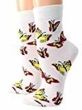 Shimasocks Damen Socken Motiv Schmetterling, Farben alle:weiß, Größe:39/42