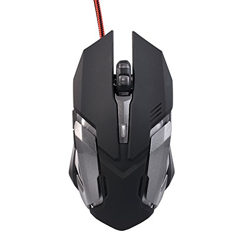 Wired USB Programmable Optical LED Gaming Mouse 6 Buttons 1200/1800/2400 DPI Computer Mice for LOL CF WH-905B