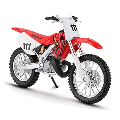 El Maquetas Coche Motocross Fantastico 1:18 Para Honda CR250R Simulación Aleación Todoterreno Motocicleta Modelo Colección Decoración Regalo Deportes Carreras Coche Juguete Regalos Juegos Mas Vendidos