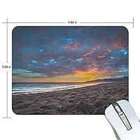 マウスパッド かわいい 美しいビーチサンセット 夕焼け 高級 ノート パソコン マウス パッド 柔らかい ゲーミング よく 滑る 便利 静音 携帯 手首 楽