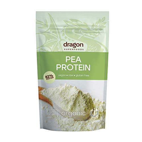 Dragon Superfoods PEA Vegan Protein Powder. 100% Bio Organic Plant Based Soy and Gluten Free Protein for Optimum Nutrition. Non Chemically Extracted - 200gr (10-13 Servings)