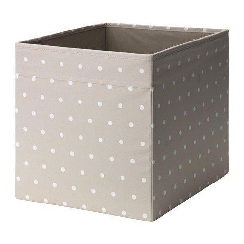 IKEA DRÖNA Fach in beige mit weißen Punkten; (33x38x33cm)