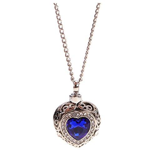 harayaa de Piedras Preciosas Azules con Collar de Cadena Conmemorativo
