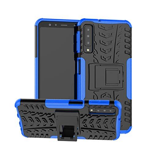 betterfon   Outdoor Handy Tasche Hybrid Hülle Schutz Hülle Panzer TPU Silikon Hard Cover Bumper für Samsung Galaxy A7 2018 SM-A750 Blau