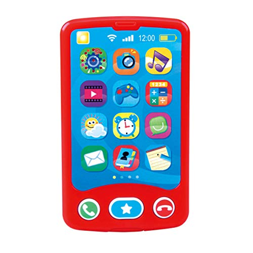 Kids Electric Educational Phone | Explorer Baby Monitor | Baby First Phone | Musical Travel Mobile Toy | Call Hang Up & Sound Effects | Cute Baby Smartphone | Learning Education Mobile Toy Color Red
