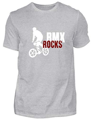 Desconocido BMX Rocks! Camiseta de Ciclismo BMX para Hombre y Mujer, diseño Sencillo y Divertido