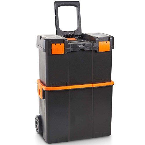 VonHaus Rollende Werkzeugboxen Werkstatt - Sicherer mobiler Arbeitsplatz / Aufbewahrung / Trolley /...