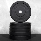 Black Rubber Bumper Plate Set |Weightlifting Equipment + Free Shipping