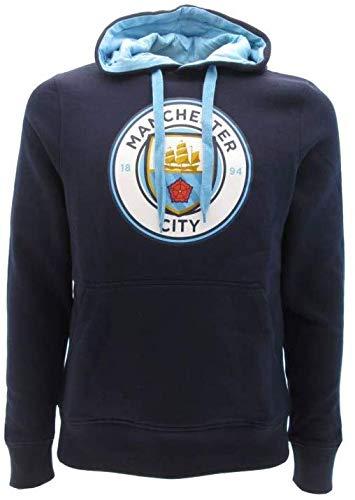 Manchester City F.C. Kapuzenpulli Hoodie Sweatshirt Original Mit Offizieller Lizenz (L Large)