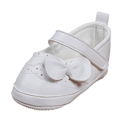 Festliche Babyschuhe Ballerinas weiß matt Taufschuhe Gr. 18 Modell 4693