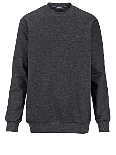 Men Plus by HAPPYsize Herren Sweatshirt Langarm in Dunkelgrau aus Baumwolle