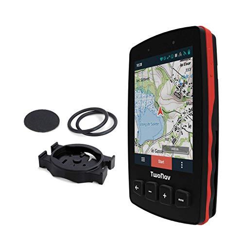 TwoNav - GPS Trail 2 Bike - Bicicletta Cicloturismo MTB / 4 Pulsanti frontali / Schermo 3,7' / Autonomia 20 h / Memoria 32 GB / Scheda SIM / Carta topografica inclusa