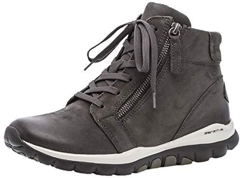 Gabor Damen Stiefeletten, Frauen Ankle Boots,Übergrößen,Optifit- Wechselfußbett, knöchelhoch reißverschluss Lady,Dark-Grey (Mel.),41 EU / 7.5 UK