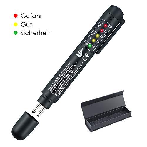 U UZOPI Bremsflüssigkeitstester Bremsflüssigkeitsprüfer für Bremsflüssigkeiten DOT 3/4/5 Brake Fluid Tester Bremsflüssigkeit Tester Messen Prüfgerät Pen Wassergehalt Tester mit 5 LED Anzeige