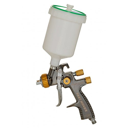 Fast Mover Tools UK LVLP Gravity Feed Spray Gun, 600cc Pot, 1.8mm Set Up
