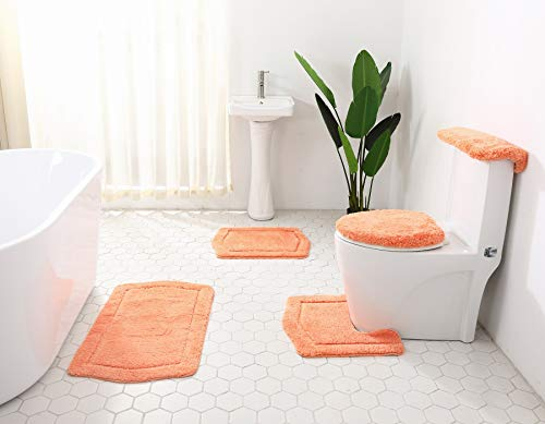 Daniel's Bath & Byound 5 Piece Bath Rug Vintage Collection, Peach