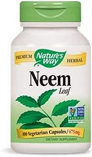 Natures Way Neem Leaf 100 Vegetable capsule, 100 ct