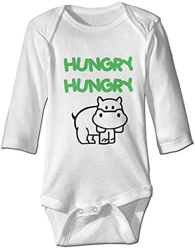 WlQshop Body Bébé Garçon Fille, Fashion Baby Boys Girls Romper Bodysuit Hungry-Hippo Infant Funny Jumpsuit Outfit Long Sleeves
