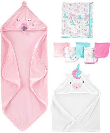 Simple Joys by Carter s Girls 8 Piece Towel and Washcloth Set Multi One Size product image