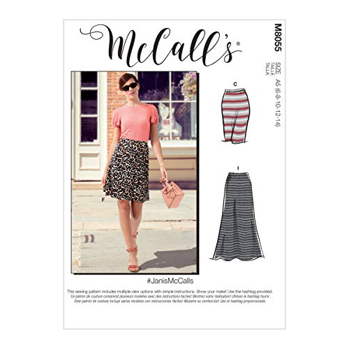 McCall\'s Misses\' Straight or A-line Skirts In 7 Lengths McCalls Pattern M8055A5 Damenröcke gerade oder A-Linie in 7 Längen A5 (6-8-10-12-14), verschieden