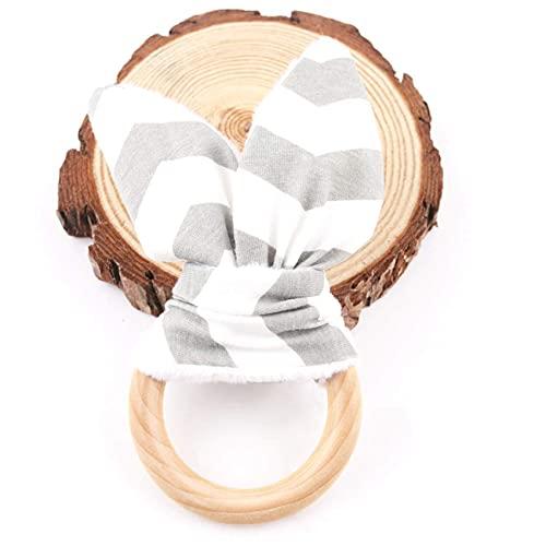 Mamimami Home Wooden Baby Teether Spielzeug Säugling Spielzeug Eco-Friendly Montessori Teether Hase Ohr Zahnen Geschenk-Set Organic Ring Organische hölzernen Teether Ring