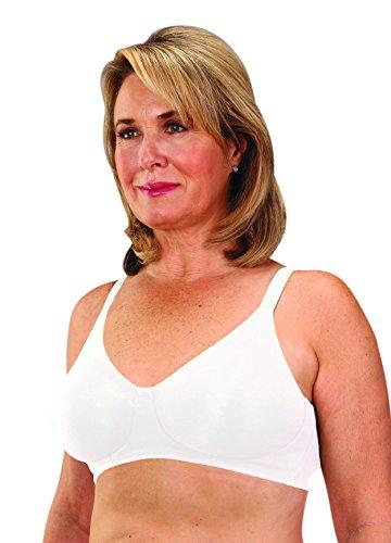 Clasique Mastectomy Seamless Sleek Comfort Cotton Bra 42AA White