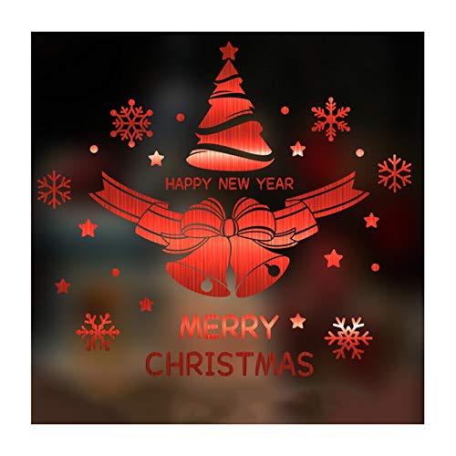 ANQIY Navidad Etiqueta De La Ventana, Festivo Copo De Nieve Puntos Feliz Navidad Decoración De Bricolaje para Escaparate Puerta (Color : Rojo, tamaño : Middle)