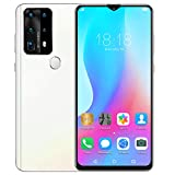 Smartphone desbloqueado, smartphone con pantalla de gota de agua HD de 6,8 'con reconocimiento facial de huellas dactilares y tarjetas duales, doble modo de espera, teléfonos móviles inteligentes(ME)