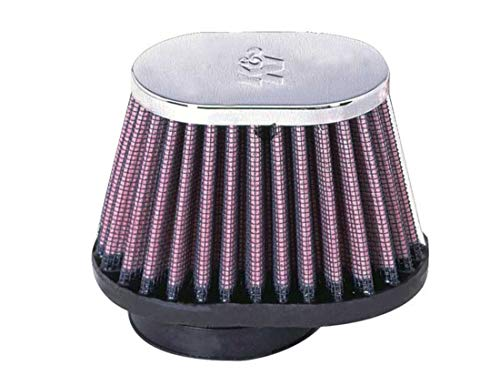K&N Universal Clamp-On Air Filter: High Performance, Premium, Washable, Replacement Filter: Flange Diameter: 2 In, Filter Height: 2.75 In, Flange Length: 0.625 In, Shape: Oval Straight, RC-1820