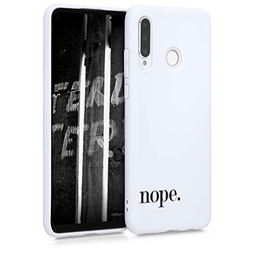 kwmobile Hülle kompatibel mit Huawei P30 Lite - Handyhülle - Handy Case Nope Schwarz Weiß