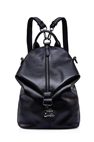 Barbie Mochila Mujer Bolso de multiutilidad Bolso de mano Bolso de bandolera de viaje de trabajo (negro)
