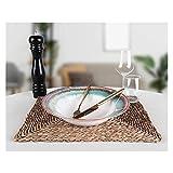JSJJRGB Piatto da Cena Piastra di Pasta 26cm 1 Pezzo in gres di Terracotta (Color : White, Plate Size : 10.2 inç)