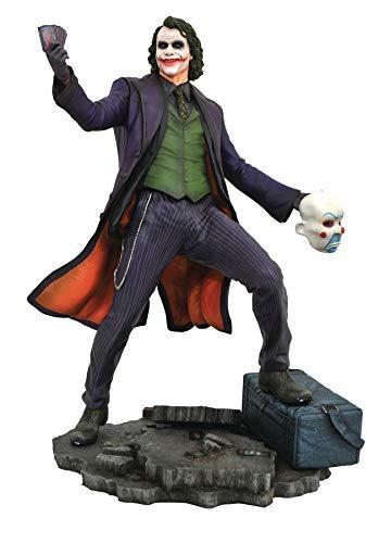 Diamond DC Comics Estatua de Diamond Select del personaje Joker de la película Dark Knihgt - Estatua DC Gallery Joker
