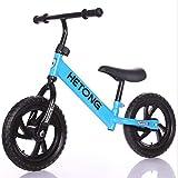 Balance Bike Bicicletas para niños pequeños 2- 8 Bicicletas de empuje de entrenamiento con llanta sin aire de cuadro bajo para niños pequeños Edad deportiva hasta años de edad Sin pedal,Blue