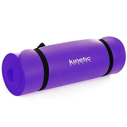 Kinetic Sports Fitnessmatte Yogamatte Pilatesmatte Gymnastikmatte | 190 x 60 cm | 1,5 cm stark | LILA