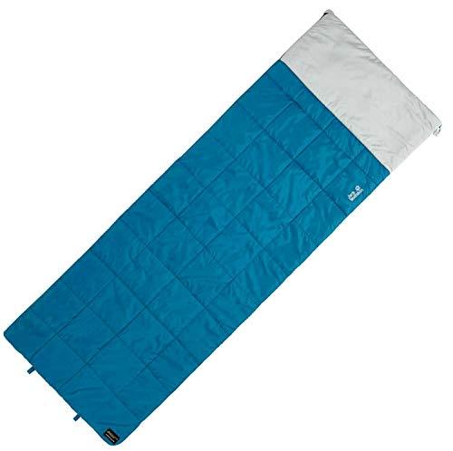 Jack Wolfskin Unisex– Erwachsene Re Blanket +5 Deckenschlafsack, Poseidon Blue, Left