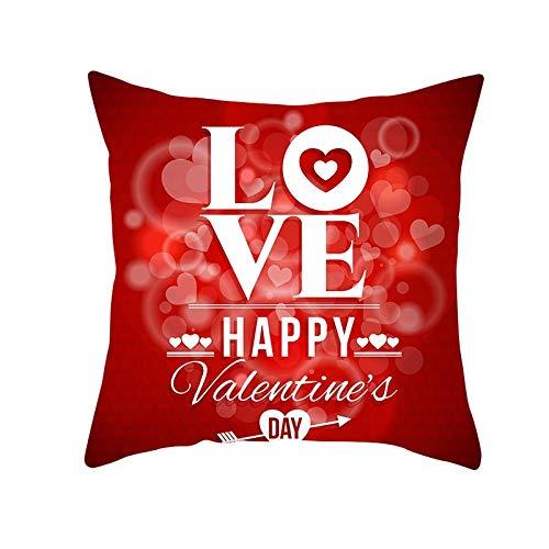 Fundas de Cojines Funda de Cojín Dream Love San Valentín Cojines Decor Terciopelo Suave Fundas de Almohada Cuadrado para Sofá Cama Sillas Coche Dormitorio Decorativo Hogar M1823 Pillowcase,40x40cm